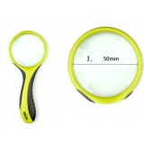 Multi-colored 5cm 3X Handheld Magnifier