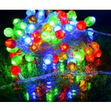 Multi-faceted ball LED holiday lights