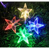 Multi-faceted five-pointed star LED holiday lights