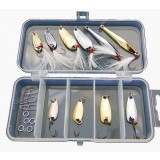 Multiple sequins fishing lure set with storage box