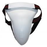 Multipurpose White PU + EVA karate jockstrap