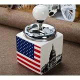 National flag style ceramic ashtray