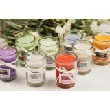 Natural aromatherapy glass cup candles