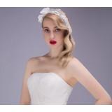 net yarn pearl bridal hair accessories