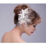 Net Yarn rhinestones Bridal hair ornaments