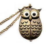 New personality pocket watch & owl fashion vintage pocket watch