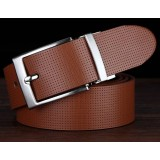 New style men Double-sided pure cowhide Leather belt