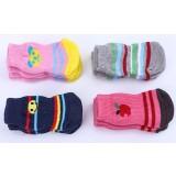 Non-slip rubber-soled pet floor socks