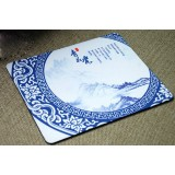 OEM Blue and white mouse pad