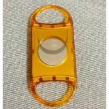 Orange stainless steel + plastic cigar cutter