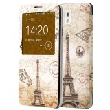 Painted Window leather case for Samsung Note3