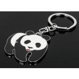 Panda zinc alloy keychain