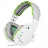 PC Gaming White Headset Headphone with Mic