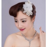 Pearl + artificial gems 3pcs Bridal Accessories Set