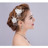 Pearl flowers bridal hair clips hair accessories