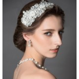 Pearl + lace bridal accessories set