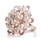 Pearls alloy napkins ring