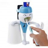 Personality toothpaste dispenser + toothbrush holder