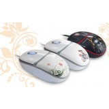 Personalized cartoon couple wired mouse