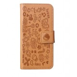 Phone cartoon Leather Case for iPhone 4 / 4s