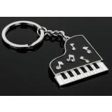 Piano zinc alloy keychain