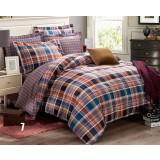 Plaid cotton series 4pcs bedding sheet set