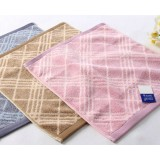 Plaid cotton small square towel