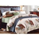 Plants and flowers cotton satin series 4pcs bedding sheet set