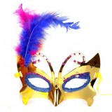 Princess Stained feather masks for costume party