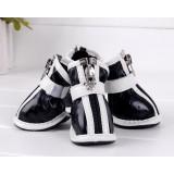 PU antiskid zipper pet shoes