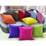Pure color flannel pillow