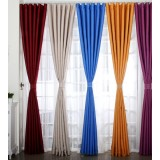 Pure color minimalist polyester curtains