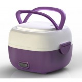 Purple 1.3L stainless steel electric lunch box