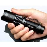 Q5 / L2 Mini Zoom LED Flashlight with belt clip