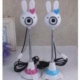 Rabbit shapes PC HD camera HD webcam with MIC