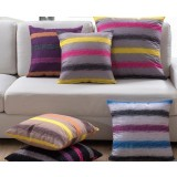 Rainbow Striped Pillow