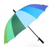 Rainbow windproof long handle umbrella