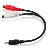 RCA 1 to 2 audio adapter cable / 0.2 m