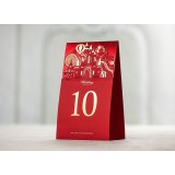 Red castle wedding seating card