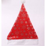Red Christmas hat with snowflakes