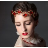 Red crystal hair accessories