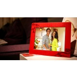 Red Slim 8 inch Digital Photo Frame