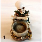 Resin personality skeletons ashtray