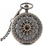 Reticular retro hollow out pocket watch Fashion mechanical watch Boys and girls watch Double open