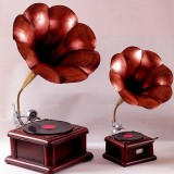 Retro phonograph model decorations