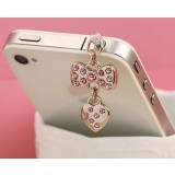 Rhinestone pendant 3.5MM headphone dust plug