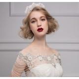 rhinestones + pearl 3pcs wedding accessories set