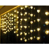 Romantic hearts curtains 80 LED holiday lights