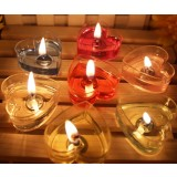 romantic wedding heart-shaped candles