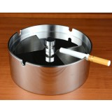 Rotary stainless steel round ashtray